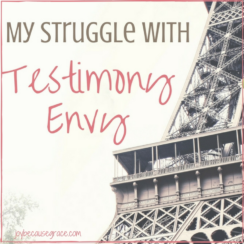 My Struggle with Testimony Envy