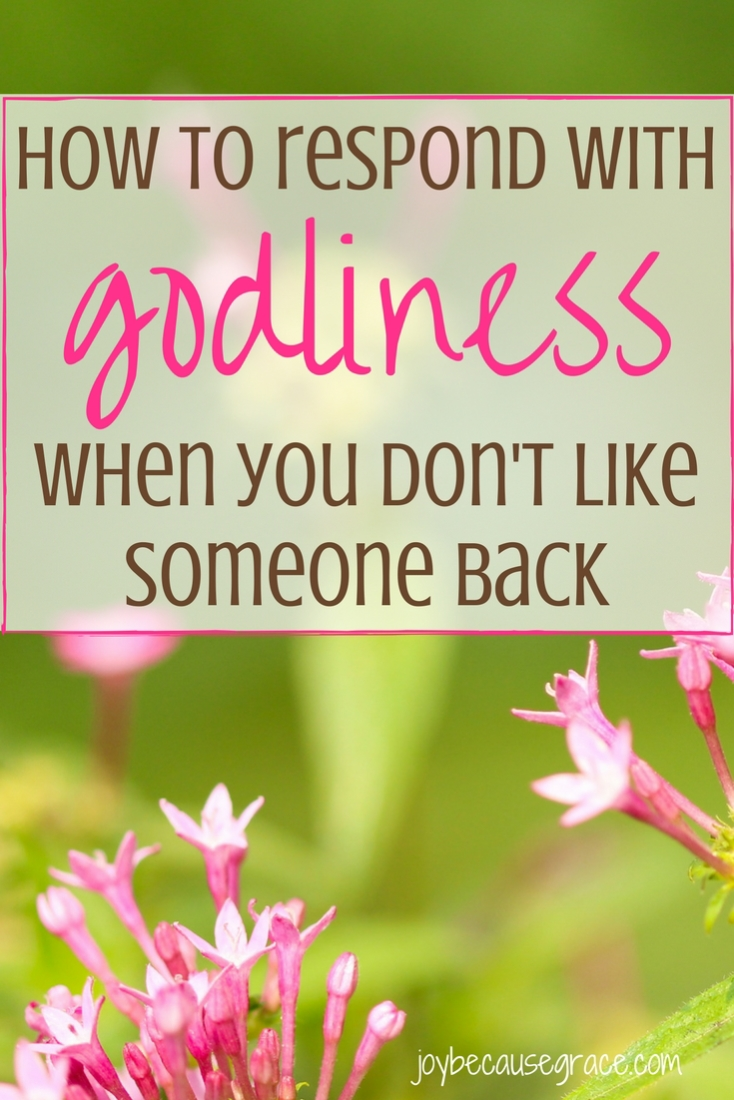 How to Respond with Godliness When You Don't Like Someone ...