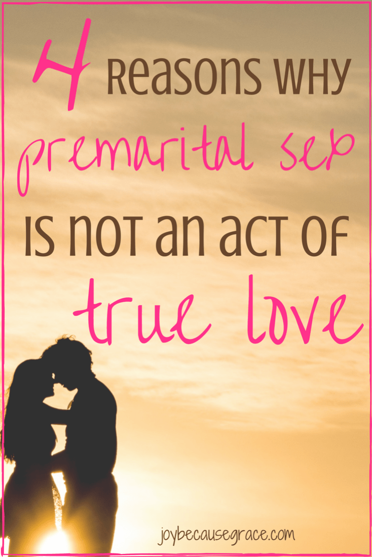 People often think that having sex proves your love for your partner. However, having premarital sex is not an act of true love. Here's why...