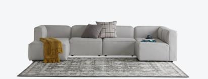 logan modular u sofa bumper sectional