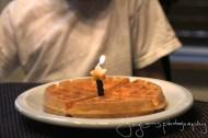 Belgian birthday Waffle
