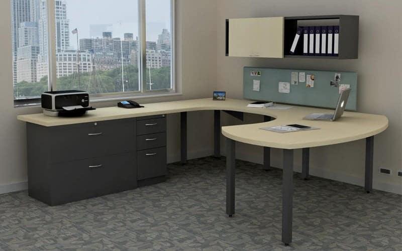 u shaped sweep desk 342