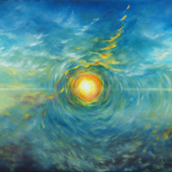 Becoming oil painting by Joyce Huntington