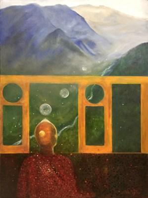 Creating Peace oil painting by Joyce Huntington