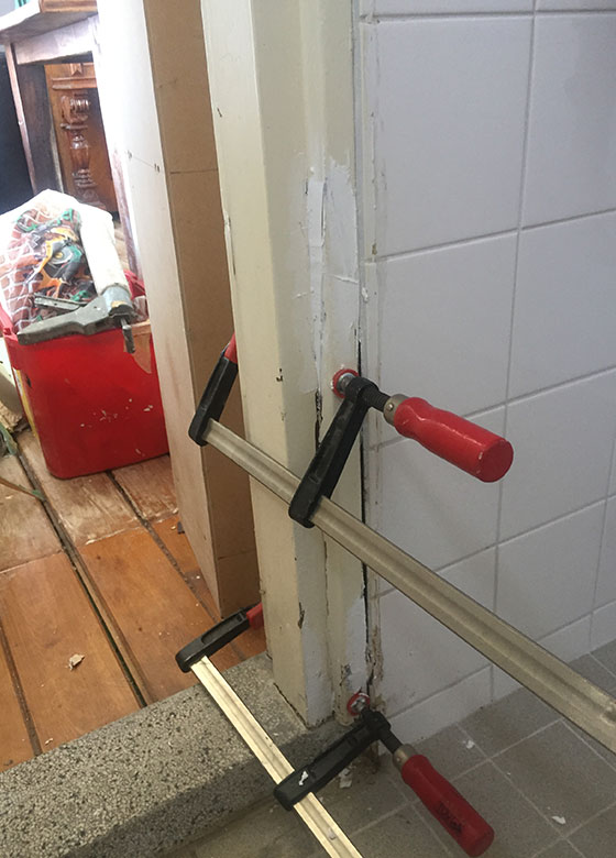 fixing wood