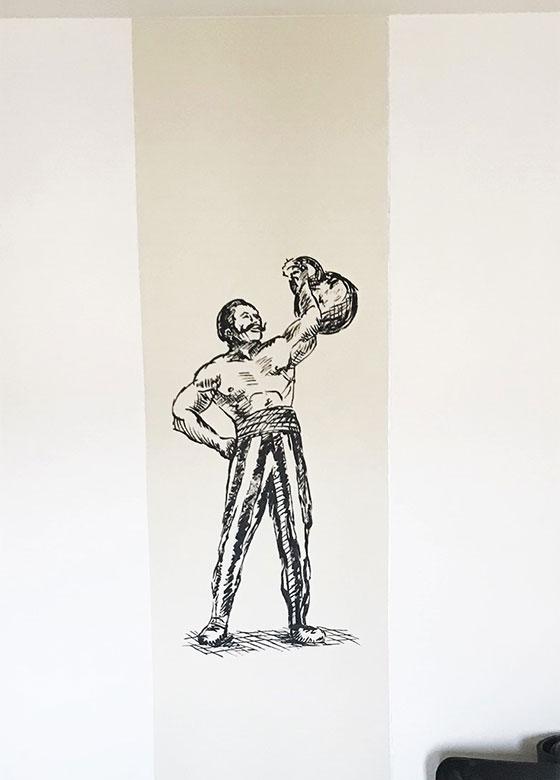 mural strong man