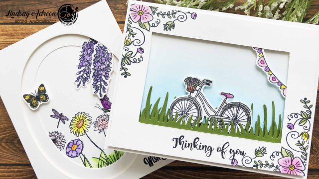 Creating inset scenes on your handmade cards is so easy and adds depth and dimension to your scene making!