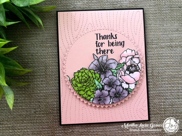 Martha's Flowers Technique Card