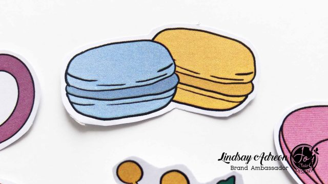 Macaron stickers made with the Cup of Joy digital stamp set
