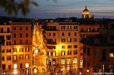 Spanish Steps Rome during the Night late evening JoyDellaVita