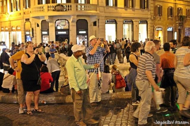 Spanish Steps Rome during the Night late evening JoyDellaVita
