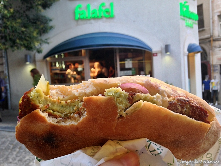 Falafel Pita from Kikero Falafel Istanbul near Galata Tower