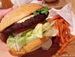 Falafel Burger and sweet potato fries at Der Fette Bulle Frankfurt