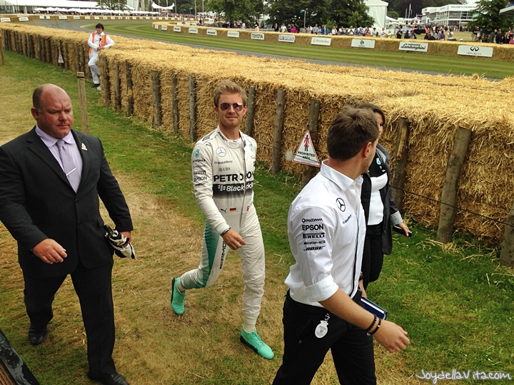 Nico Rosberg at the Goodwood Festival of Speed 2015