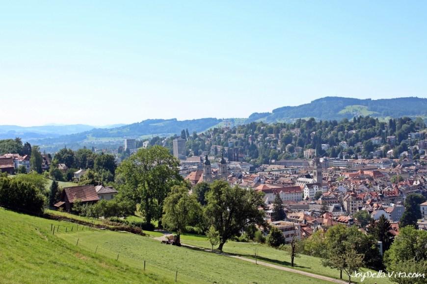 View from Dreilinden on St. Gallen
