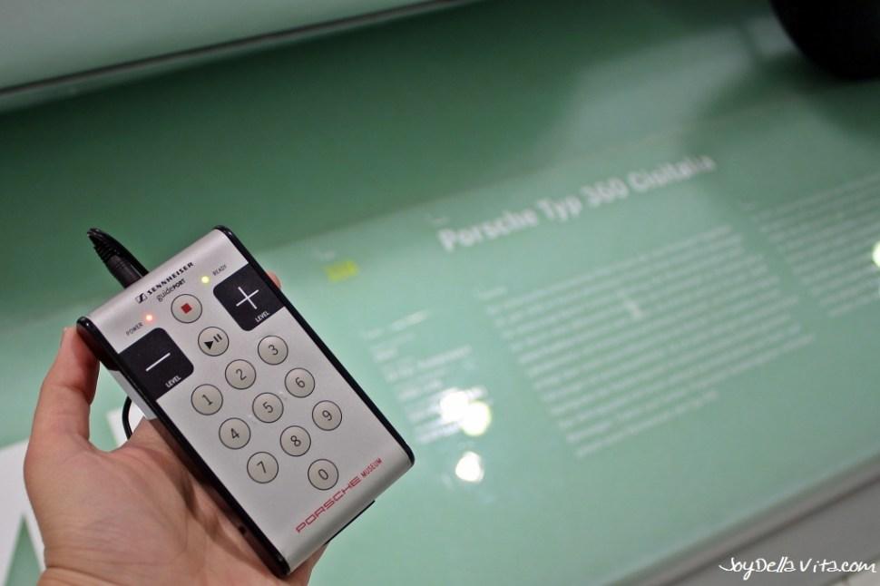 Free Audio Guide at Porsche Museum