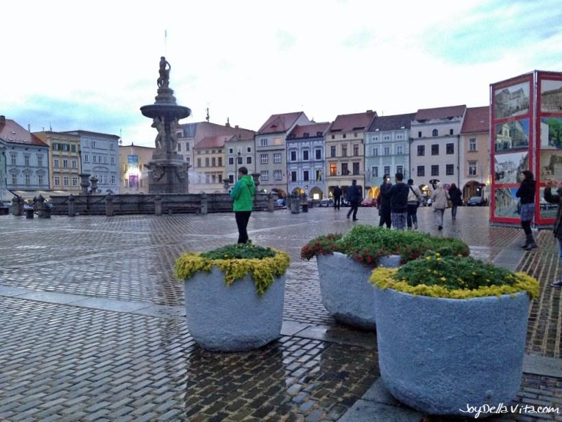 Ottokar II square in Budweis / České Budějovice