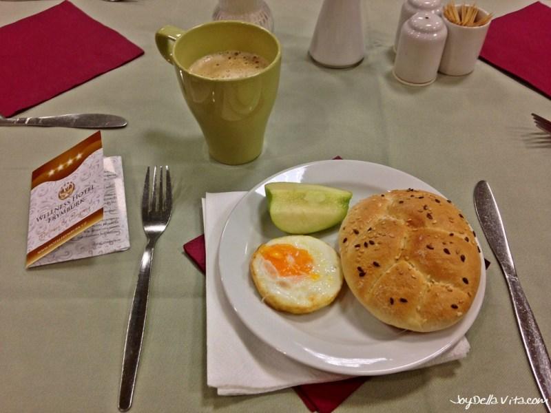 Buffet for Breakfast at Wellness Hotel Frymburk