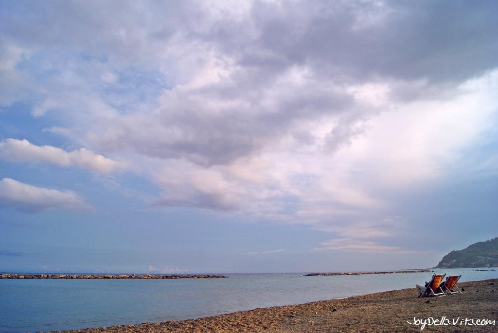 At the Beach in San Bartolomeo al Mare, Liguria, Italy