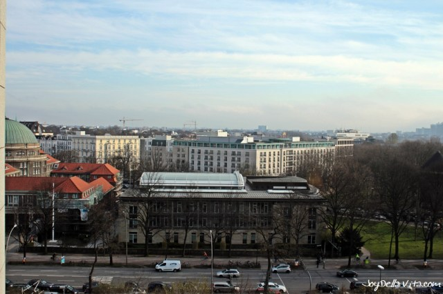 View from my Room at the highest Hotel in Hamburg