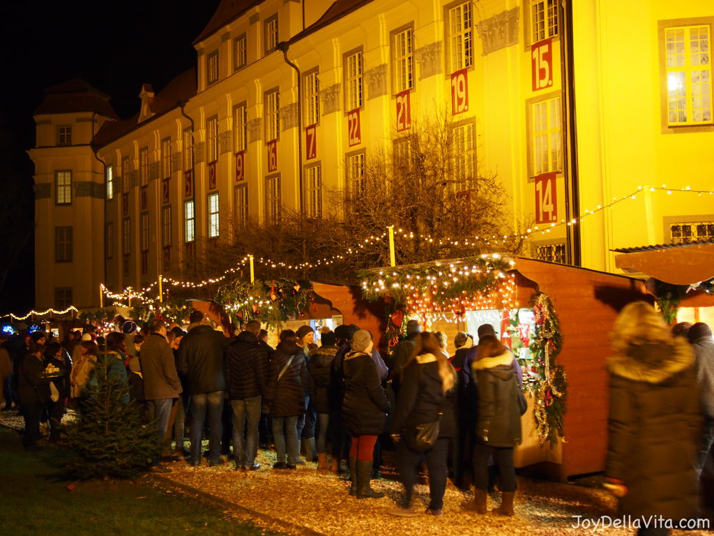 The Christmas Market in Tettnang in Front of the new Castle