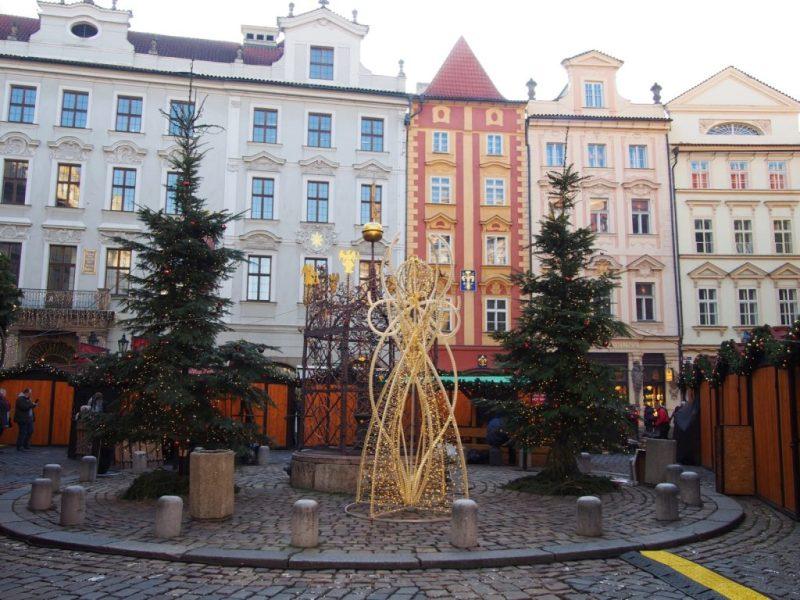 Christmas Market in front of Hard Rock Cafe Prague