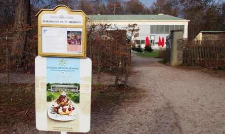 Schlosscafé in the Palm House at Nymphenburg Castle Munich