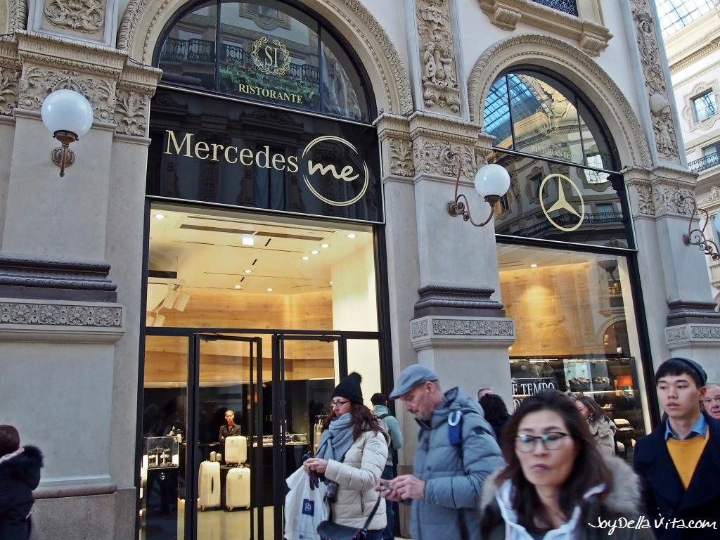 Mercedes me Store Milan inside Galleria Vittorio Emanuele II