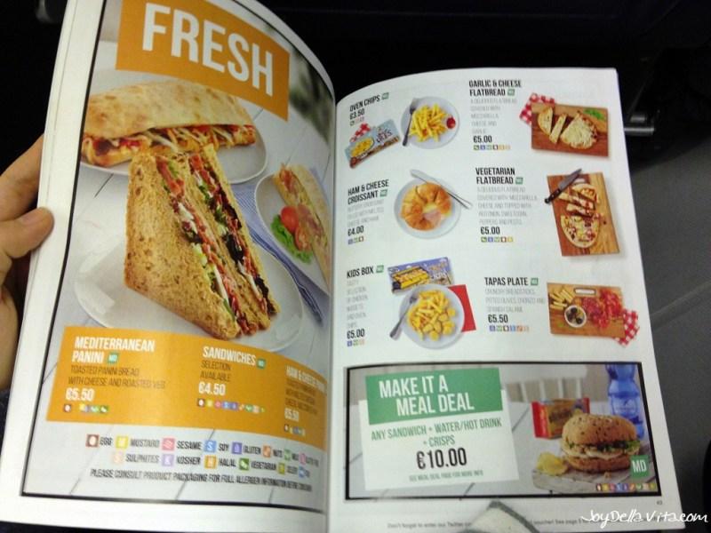 RyanAir On Board Menu 2016 (Food & Drinks)