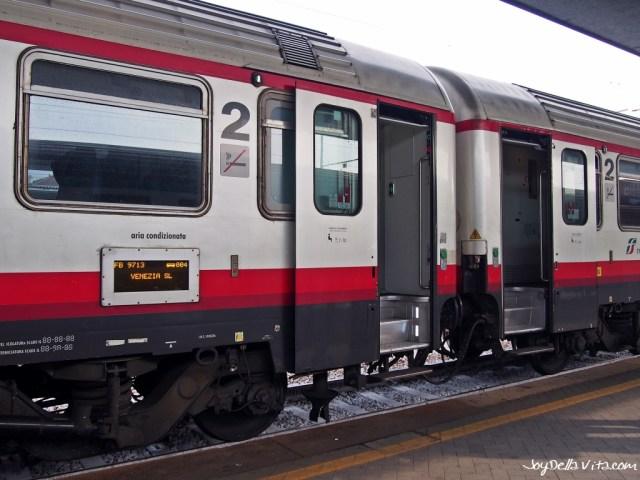 Frecciabianca Train to Venice, from Milan