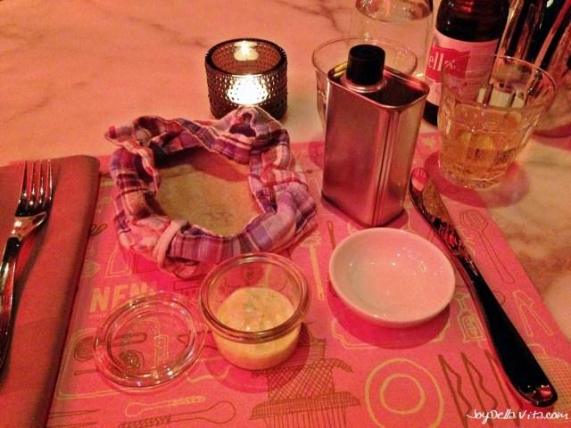 Starters at NENI Zurich: Lebanese Mayonnaise, Oil and warm Pita Bread Joy Della Vita Travelblog