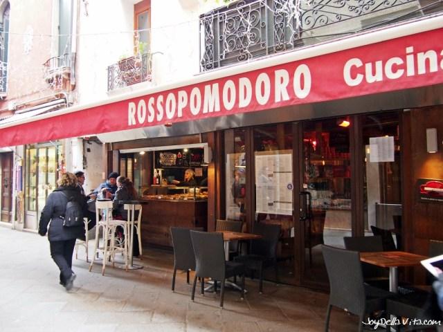 Outside Rossopomodoro Venice near St Mark's Square