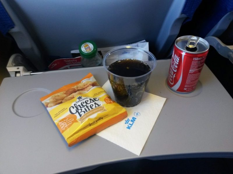 On board snacks from AMS to ZRH