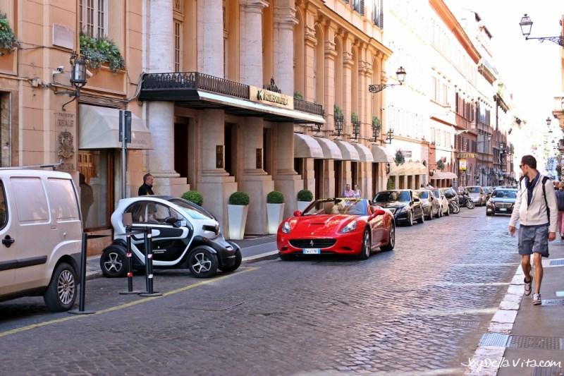 Italian Sportscar in the Italian Capital City
