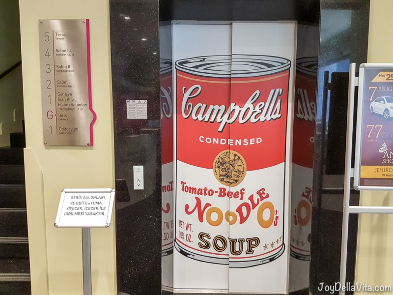 Campbell's Cans at the Andy Warhol Pop Art for everyone exhibition in Antalya 2016