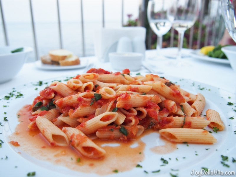Penne Arrabbiata at Arma Restaurant in Antalya
