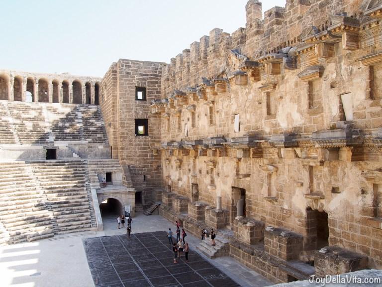 Exploring the Roman Theatre in Aspendos near Antalya