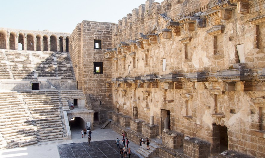 Exploring the Roman Theatre in Aspendos near Antalya