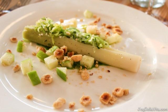 Roasted Leek, Hazelnuts, Horse Radish and Apple