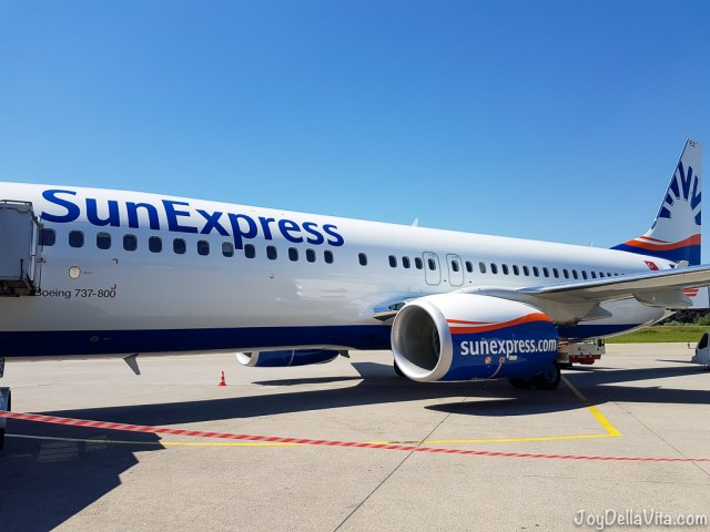 Boarding the Boeing 737-800 by SunExpress