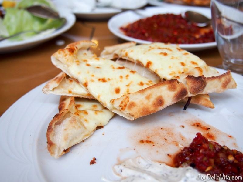 Pide with white Cheese Antalya Kebap House
