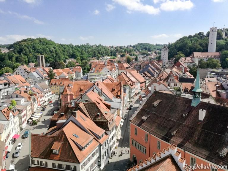 Climbing Blaserturm in Ravensburg, Southern Germany