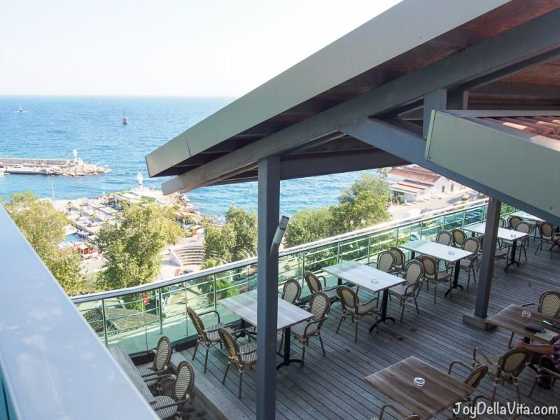 Restaurant overlooking Antalya Old Town