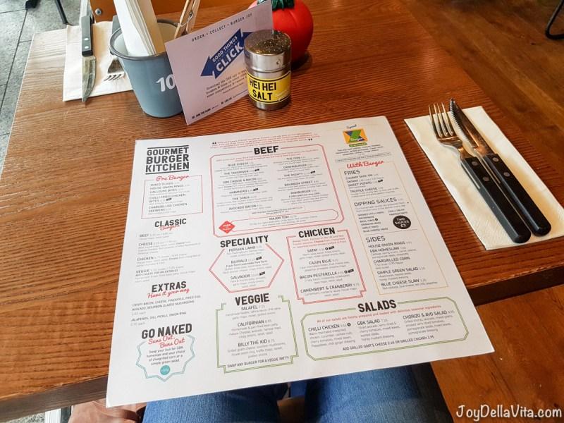 Gourmet Burger Kitchen London Westfield Falafel Burger Skinny Fries JoyDellaVita