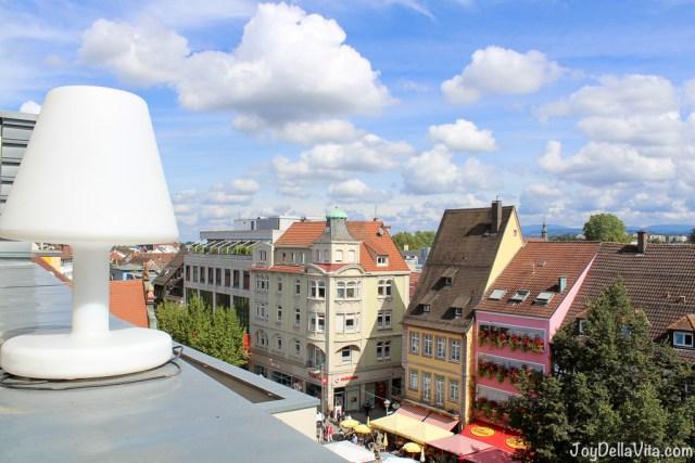 beautiful view from Rooftop Restaurant Schoellmanns in Offenburg