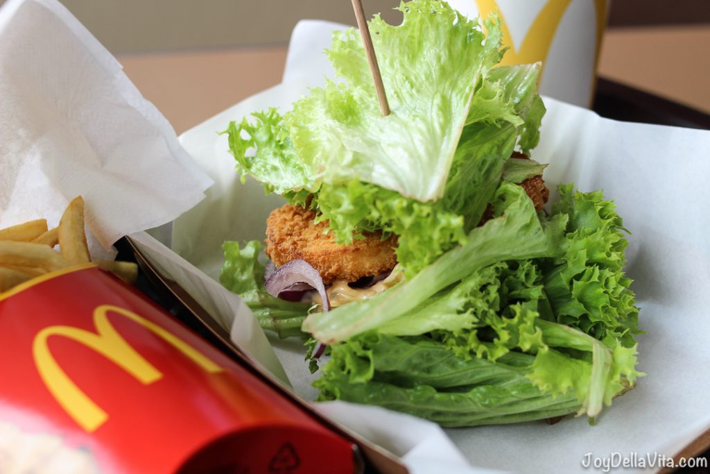 MyBurger LowCarb Veggie Burger at McDonalds Austria JoyDellaVita