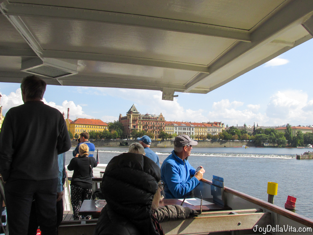 Prague Boats Boat Tour on Vltava river in Prague JoyDellaVita Travelblog