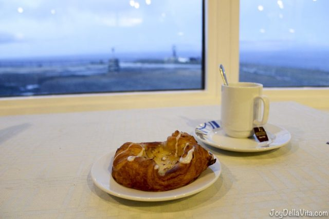 Snack with a view on the North Cape Globe
