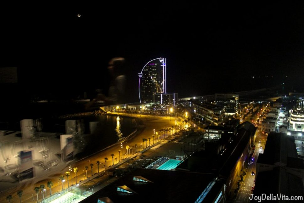 view from Torre d´Alta Mar 360° Restaurant in Barcelona on the Beach