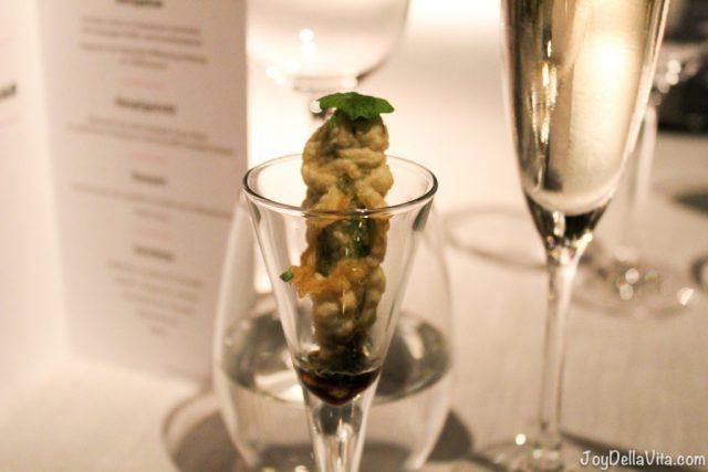 Appetiser of the chef - Torre dAlta Mar 360 Restaurant Barcelona